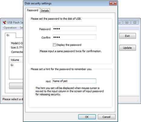 ������ ���� ����� ���� ���� ���� ��� ������� USB Flash Security (������ ���)