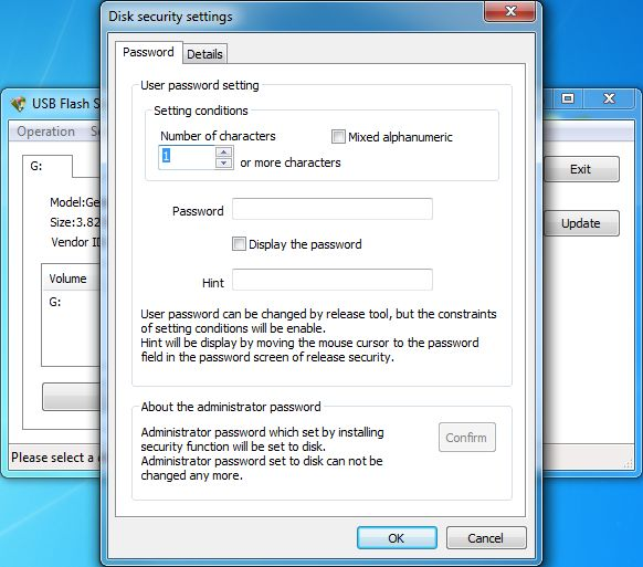 Click to view USB Flash Security+g 4.1.8 screenshot