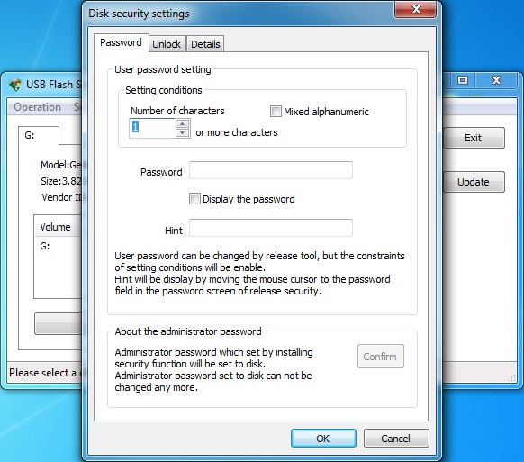 USB Flash Security++g Screen shot