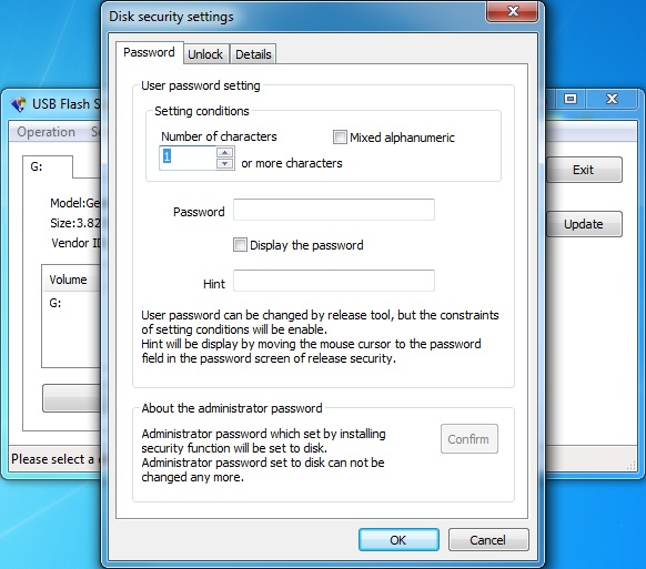 Click to view USB Flash Security#g 4.1.4 screenshot